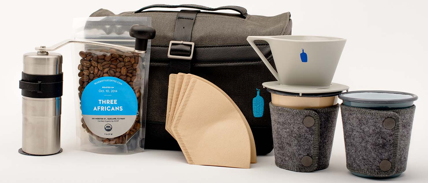 Timbuk2 blue bottle travel kit
