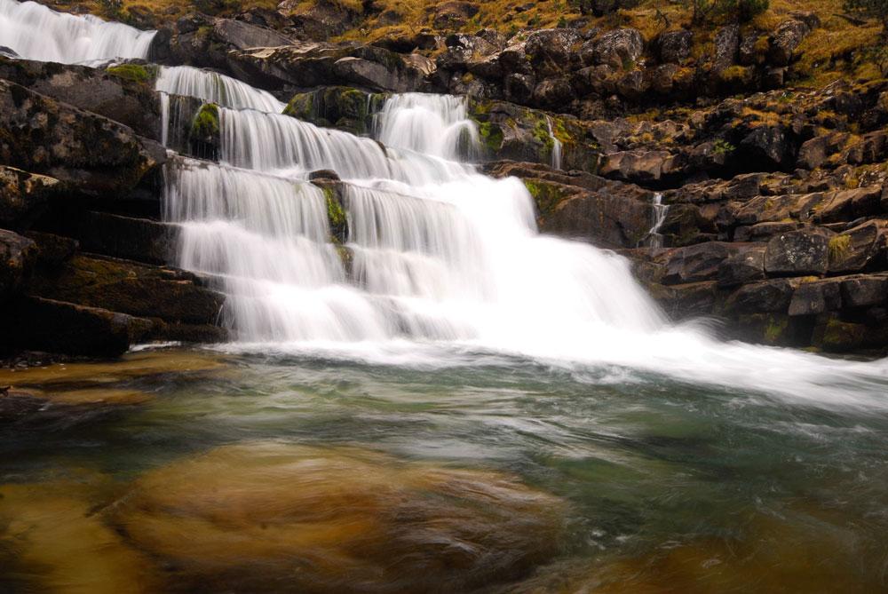 Poza y cascada en Ordesa