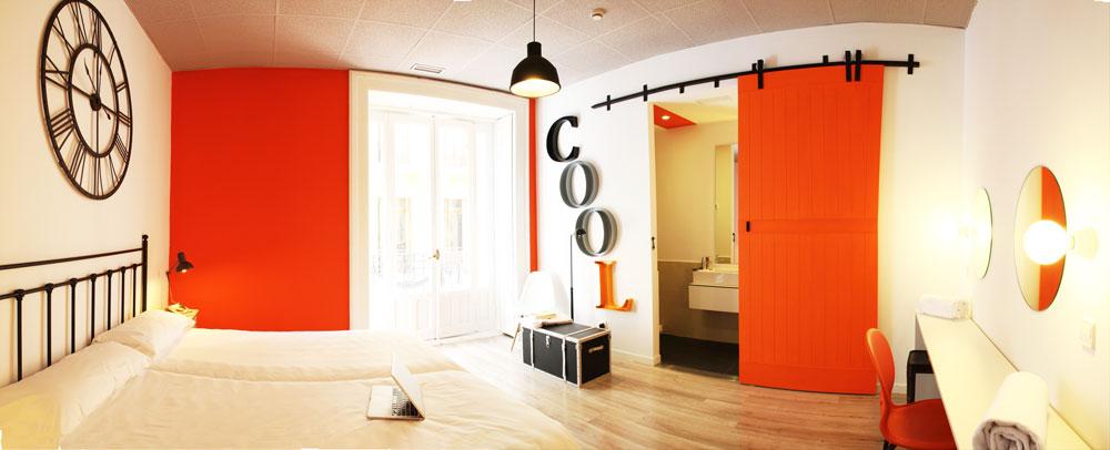 Habitación en U Hostel, Madrid
