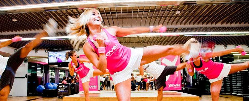 Jessica Expósito en acción en una de sus clases