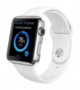 Aplicación WaterMinder en un smartwatch