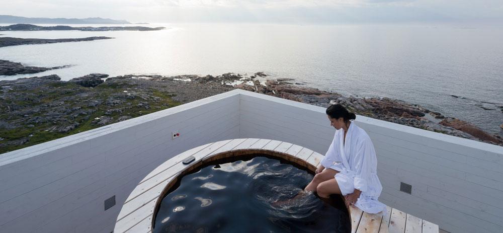 Vista en Fogo Island Inn