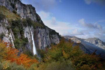 Vista de la cascada Asón