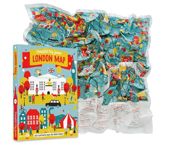 Mapa de Londres de Crumpled City Junior