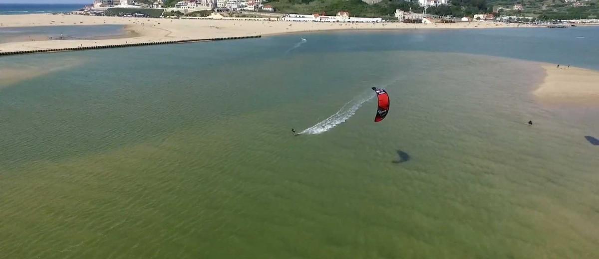 Praia Bom Sucesso, Lagoa de Obidos