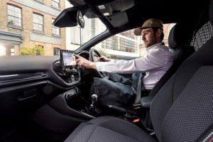 Interior de Ford Fiesta Van 2018