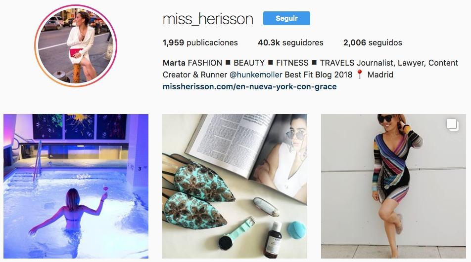 Perfil de Instagram de @miss_herisson