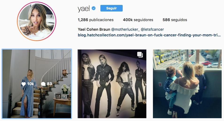 Perfil de Instagram de @yael